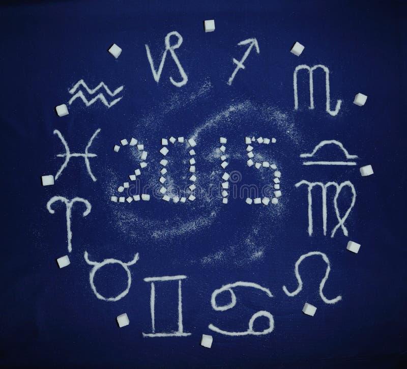 Zodiaco 2015 del azúcar imagenes de archivo