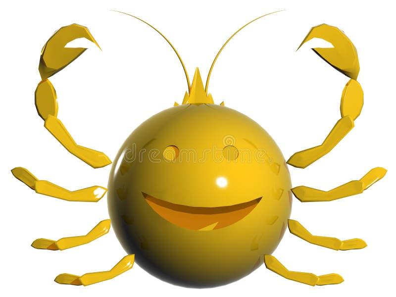 Zodiaco del Cancer illustrazione vettoriale