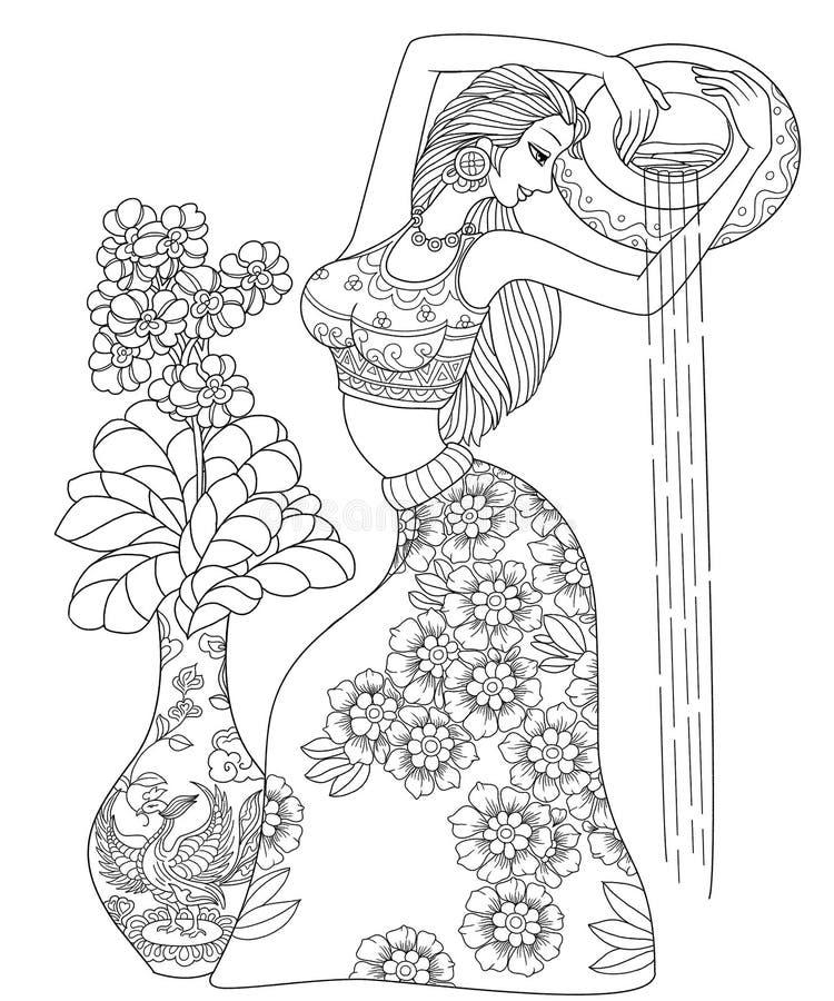 Zodiaco dell'elemento portante di acqua o del Aquarius dodici illustrazione di stock