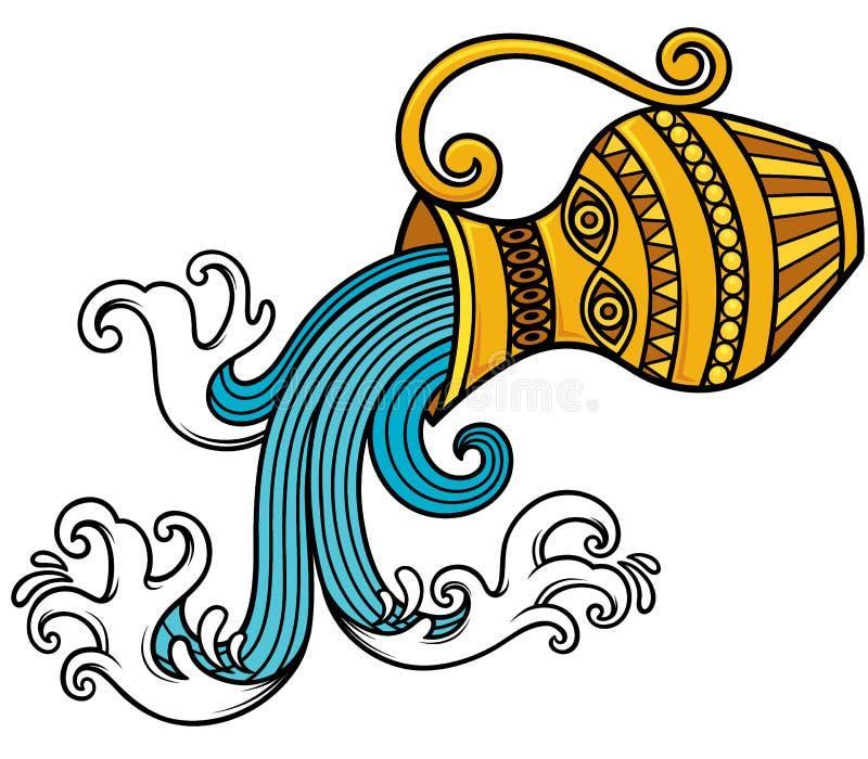 Zodiaco di acquario illustrazione di stock