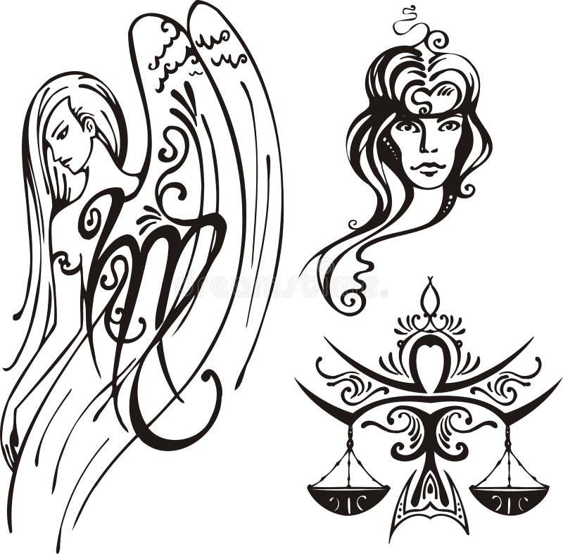 Zodiaco di fantasia. illustrazione di stock