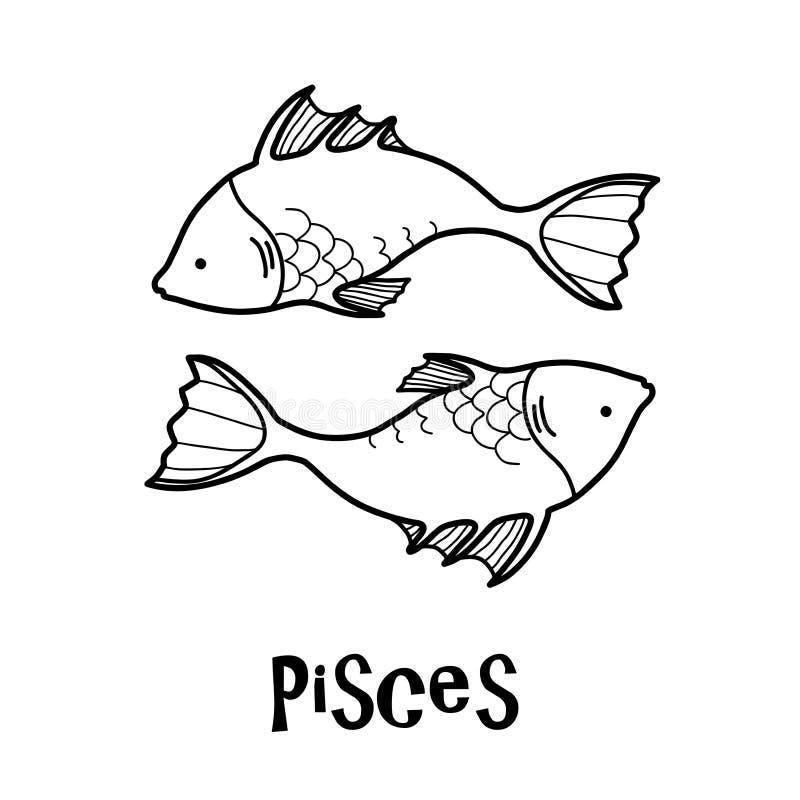 Zodiaco di pesci royalty illustrazione gratis