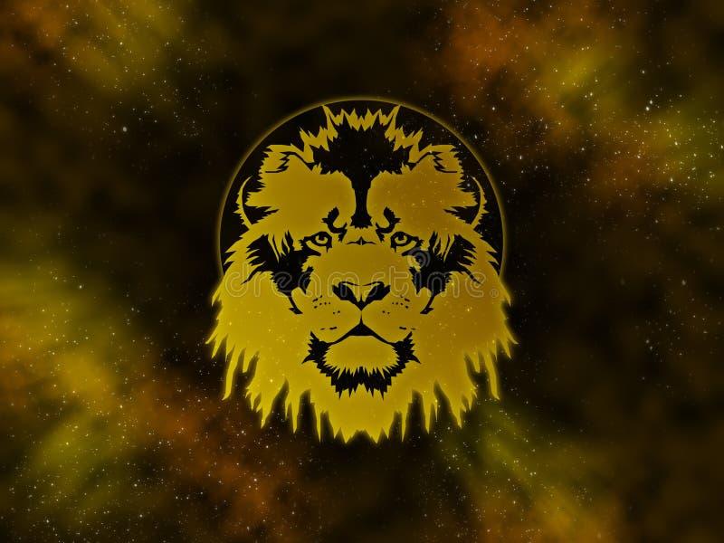 Zodiaco Leo Starfield illustrazione di stock