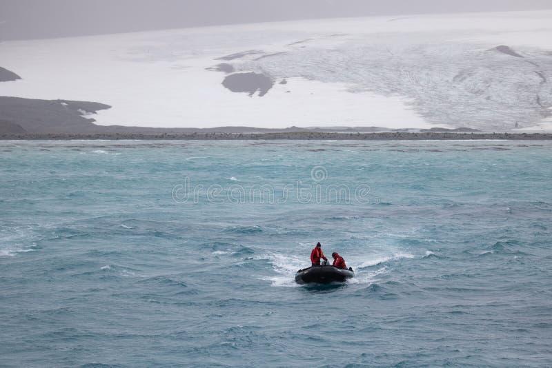 Zodiaco que vuelve del glaciar imágenes de archivo libres de regalías