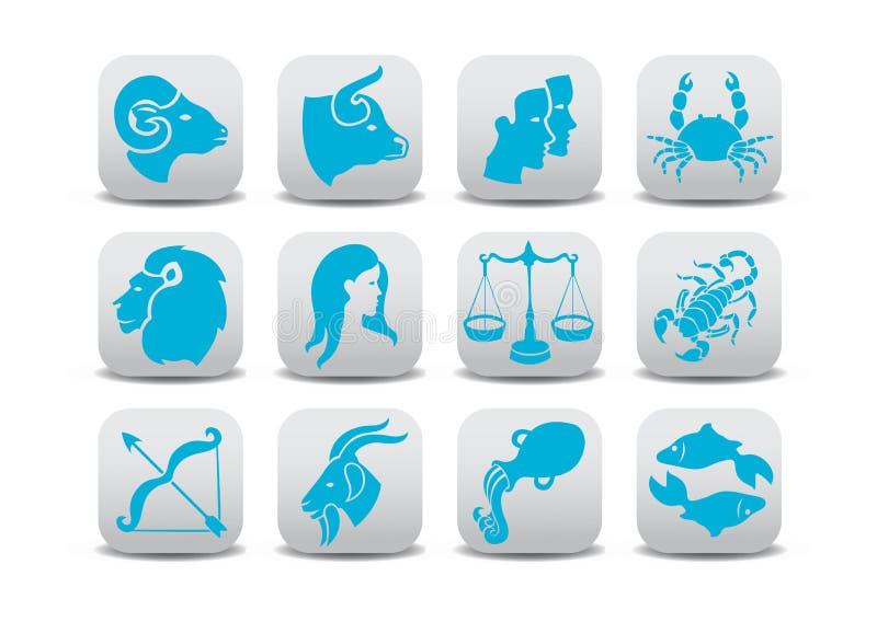 Zodiacsymboler stock illustrationer
