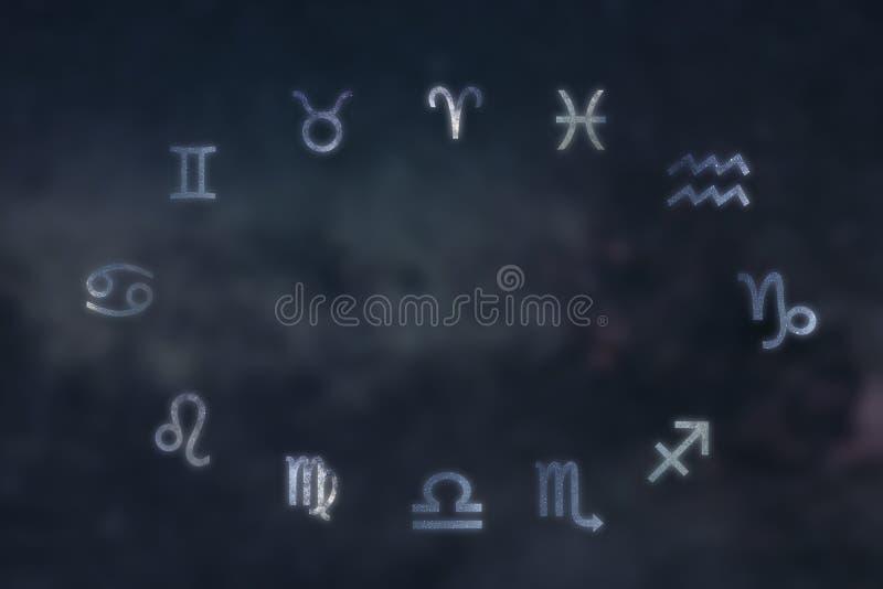 Zodiaków gwiazdozbiory Zodiaków znaki Znaki zodiak obrazy royalty free