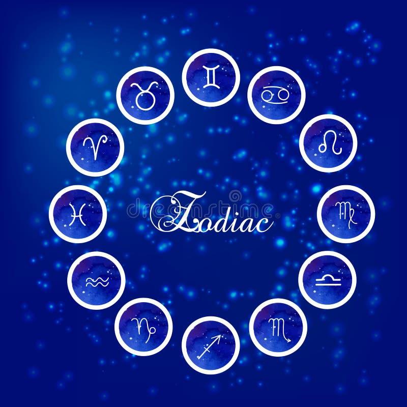 Zodiaków znaki royalty ilustracja