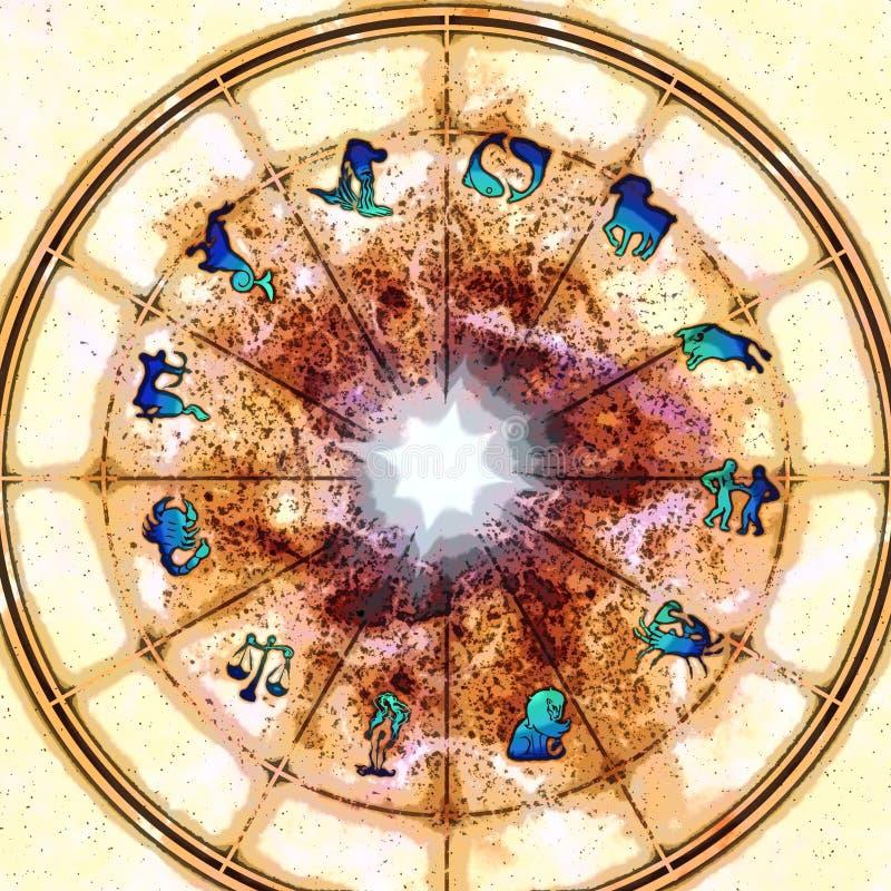zodiak ilustracja wektor