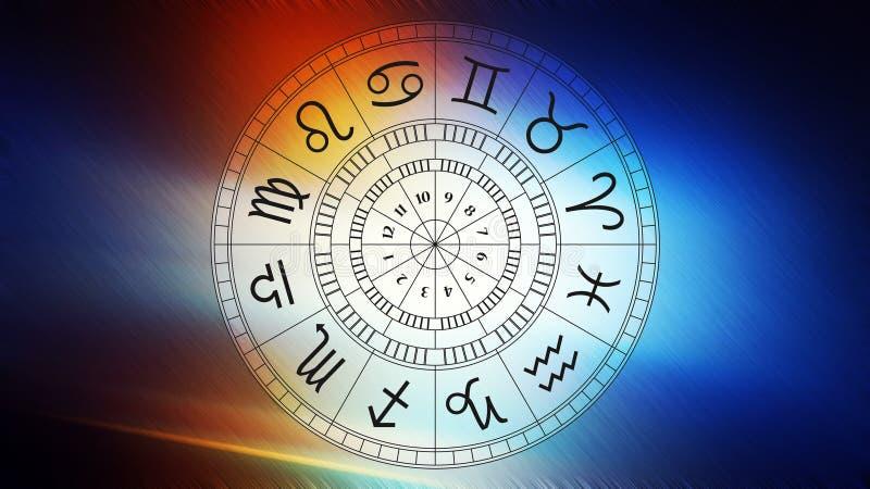 Zodiak astrologii znaki dla horoskopu ilustracja wektor