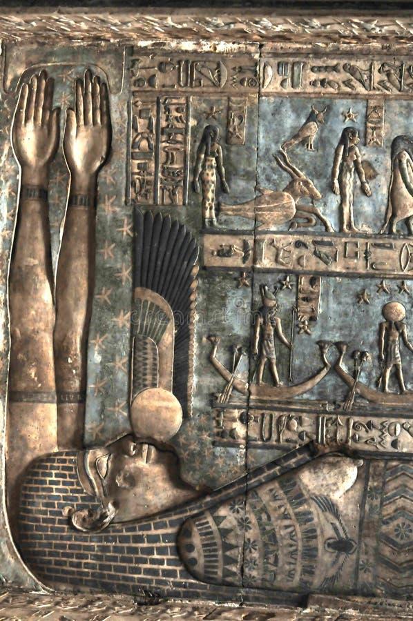 Zodiak et le temple de Hathor photo libre de droits