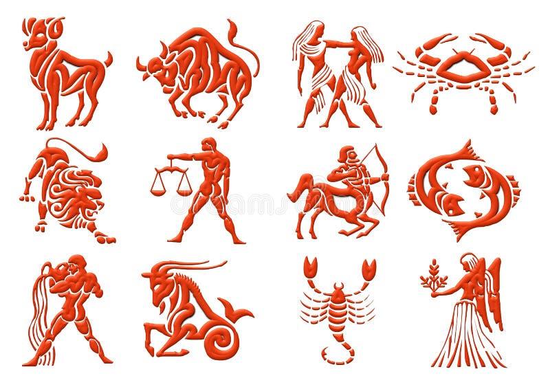 zodiak gromadzenia danych royalty ilustracja