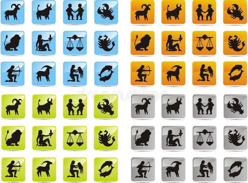 Zodiak ikony ilustracji