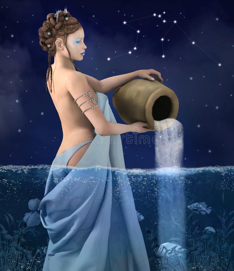 Zodiak serie - Aquarius royalty ilustracja