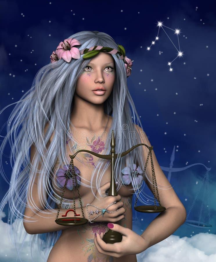 Zodiak serie - Libra ilustracja wektor