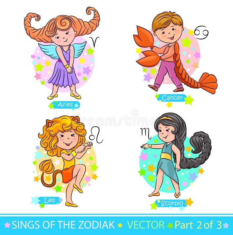 Zodiak signs_2 ilustracja wektor