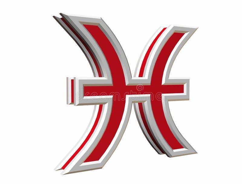 zodiak simbol ryb zdjęcie royalty free