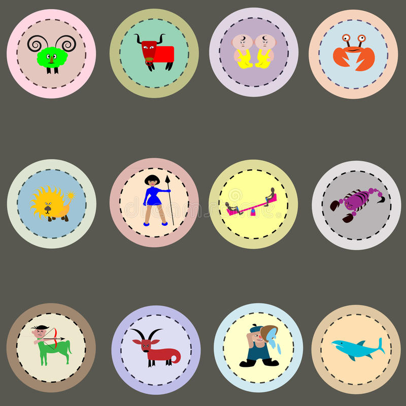 Zodiak znaki. ilustracji