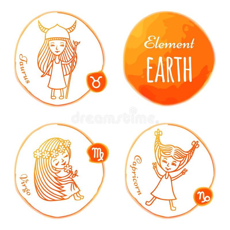 Zodiaka elementu ziemia obrazy royalty free