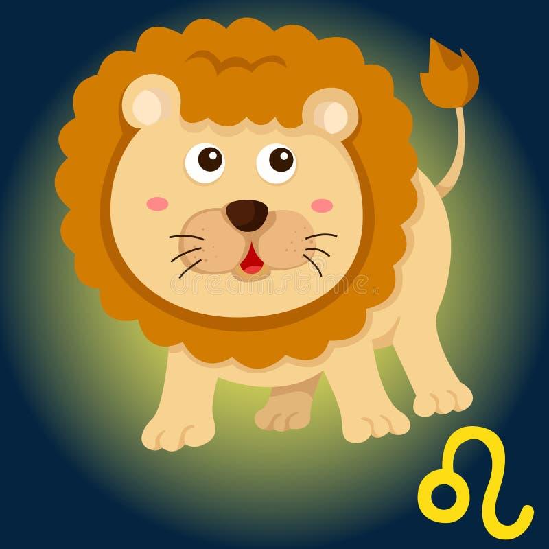 Zodiaka Leo znak royalty ilustracja