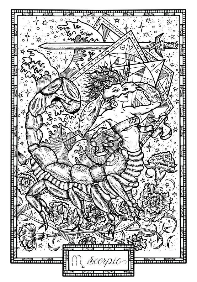 Zodiaka skorpion z lub ilustracji