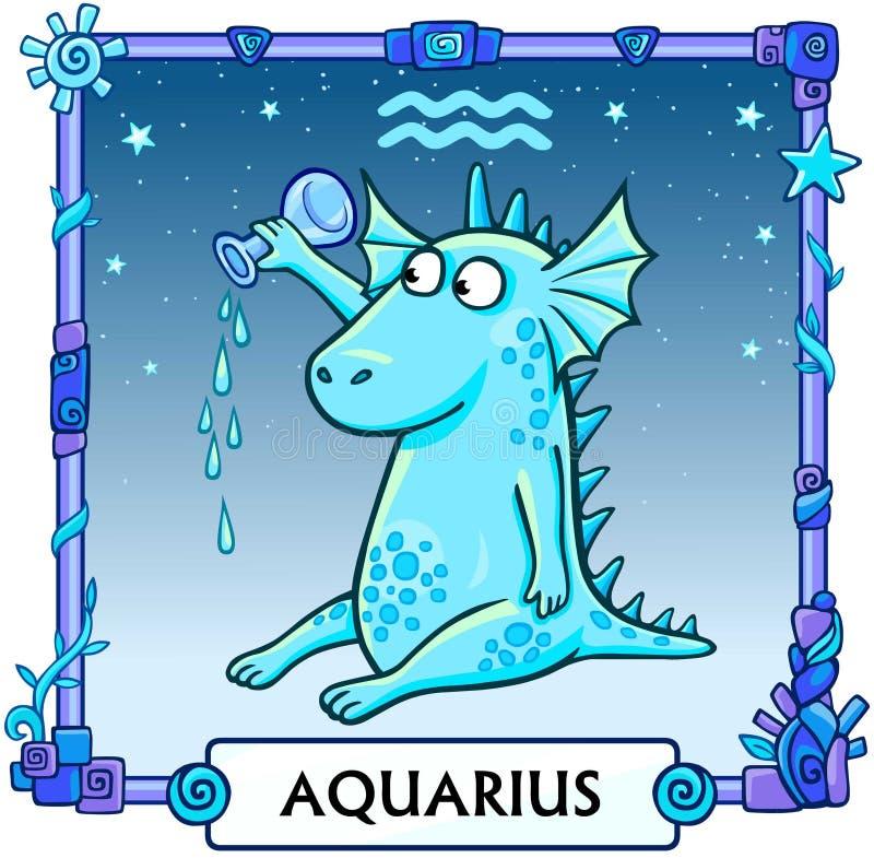 Zodiaka szyldowy Aquarius ilustracja wektor