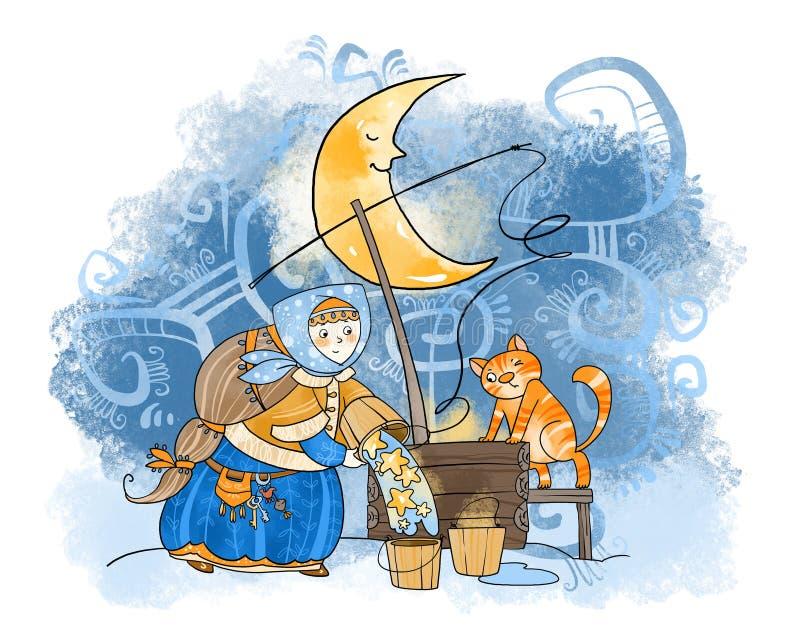 Zodiakalni znaki: aquarius royalty ilustracja
