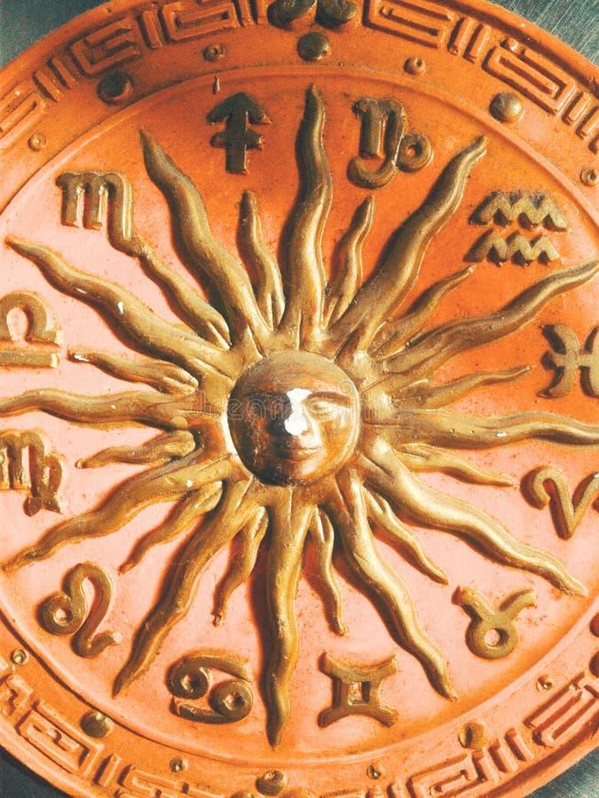 Zodiakcirkel arkivbild