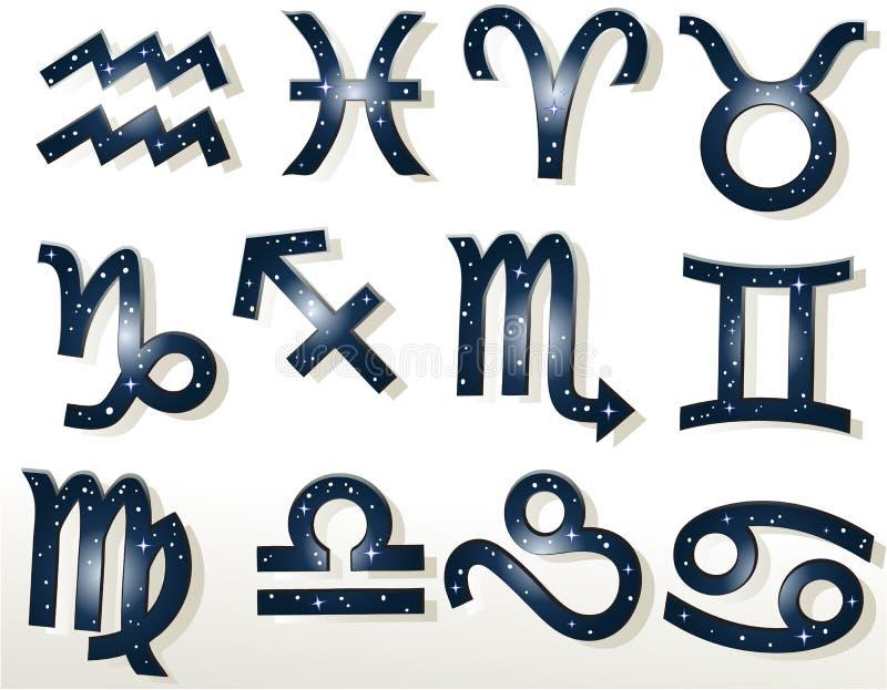 Zodiaktecken vektor illustrationer