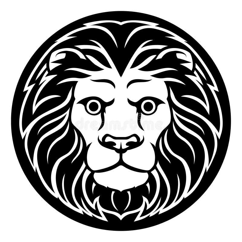 Zodiaktecken Leo Lion Icon royaltyfri illustrationer