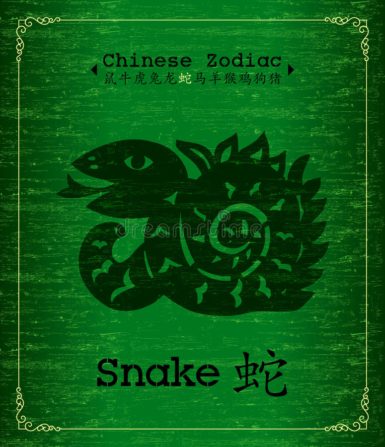 Zodiaque chinois - serpent illustration de vecteur