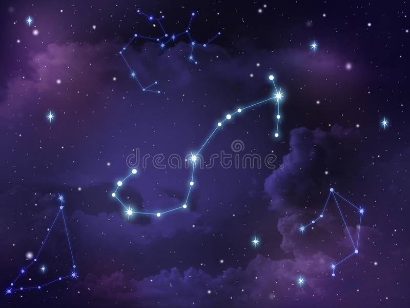 Zodiaque d'étoile de constellation de Scorpion photo libre de droits