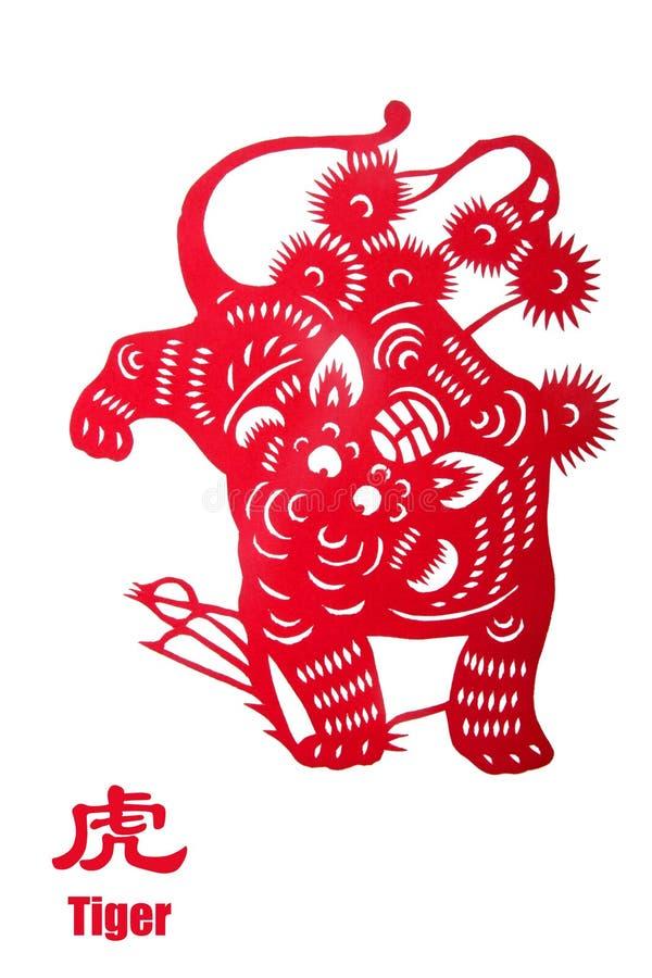 zodiaque d'an de tigre de 2010 Chinois illustration de vecteur