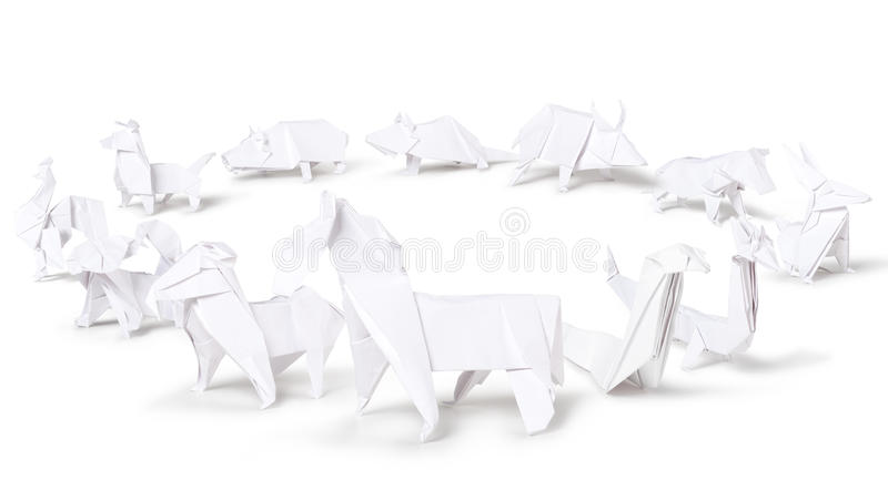 Zodiaque de Chinois d'origami photographie stock libre de droits