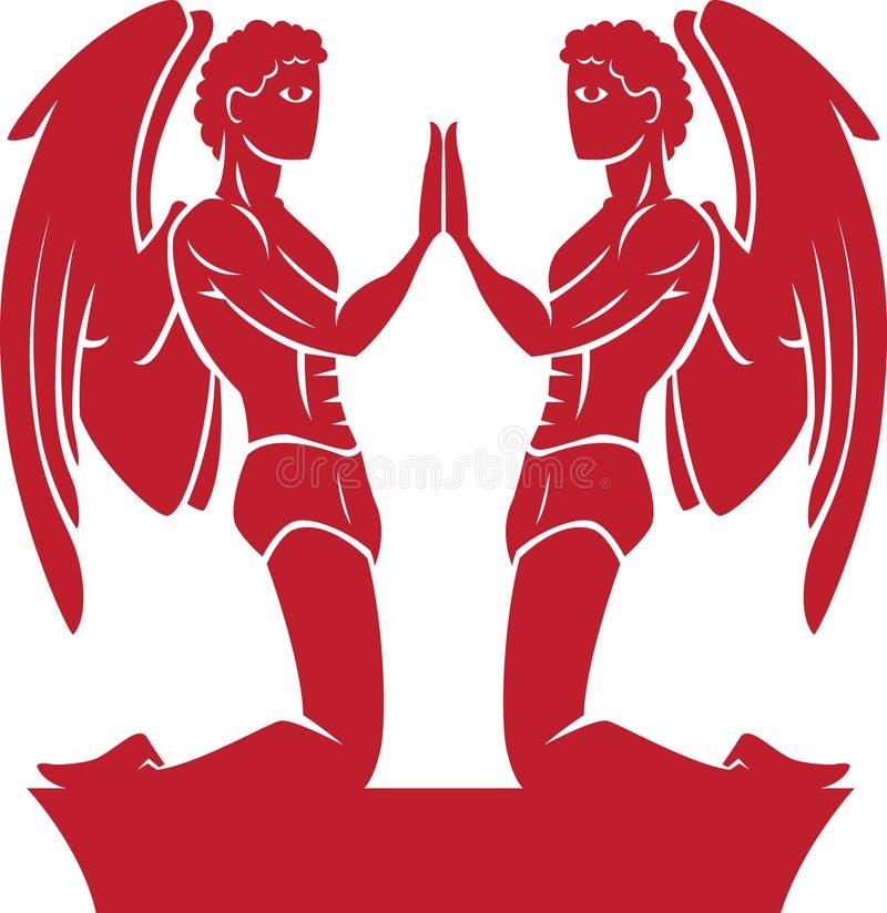 Zodiaque de Gémeaux/symbole d'horoscope illustration libre de droits