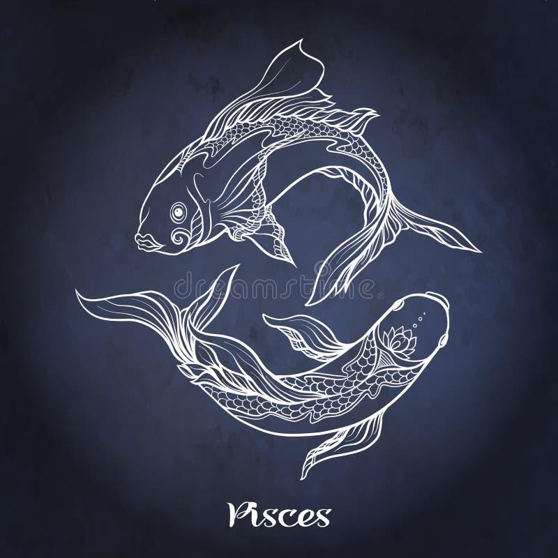 zodiaque des symboles douze de signe de conception de dessin-modèles divers Collection astrologique d'horoscope Illustration de v illustration de vecteur