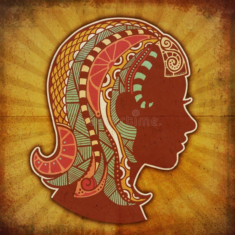 Zodiaque grunge - Vierge image stock