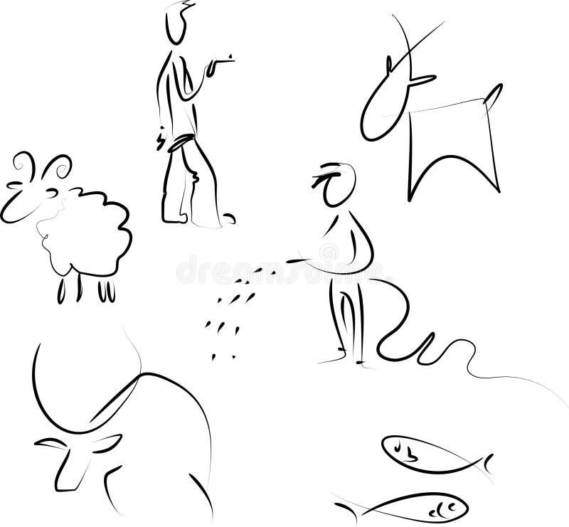 Zodiaque réglé - 1 illustration libre de droits