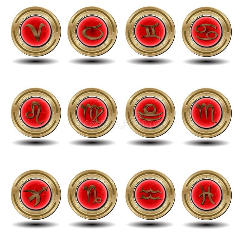 Zodiaque rouge de joint photos stock
