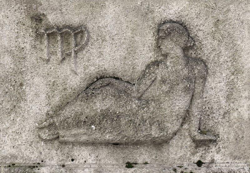 Zodiaque - Vierge ou jeune fille image libre de droits