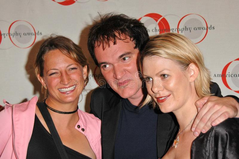 Zoe Bell, Quentin Tarantino image libre de droits
