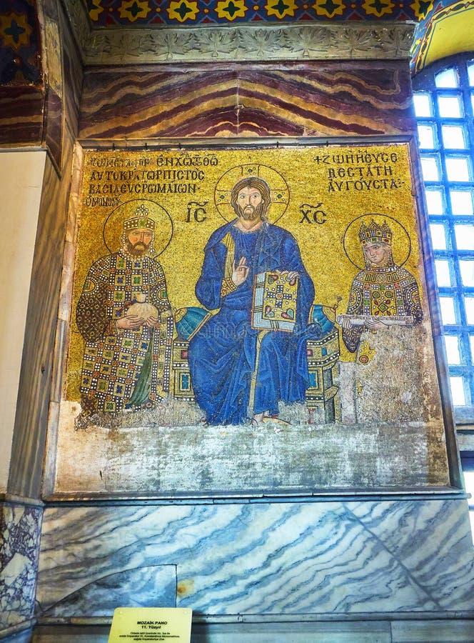 Zoe Mosaic da mesquita de Hagia Sophia Istambul, Turquia imagem de stock