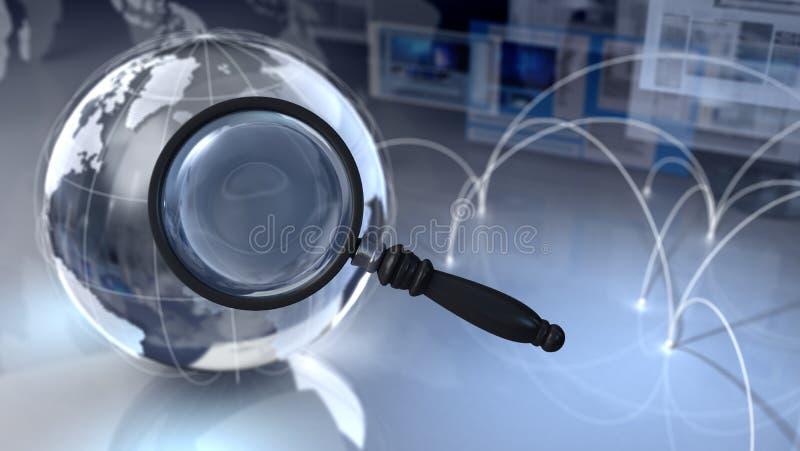 zoek vector illustratie