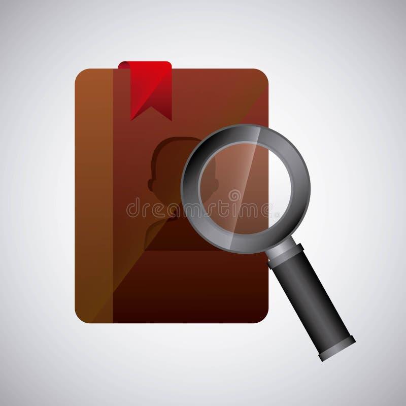 zoek in agendontwerp royalty-vrije illustratie
