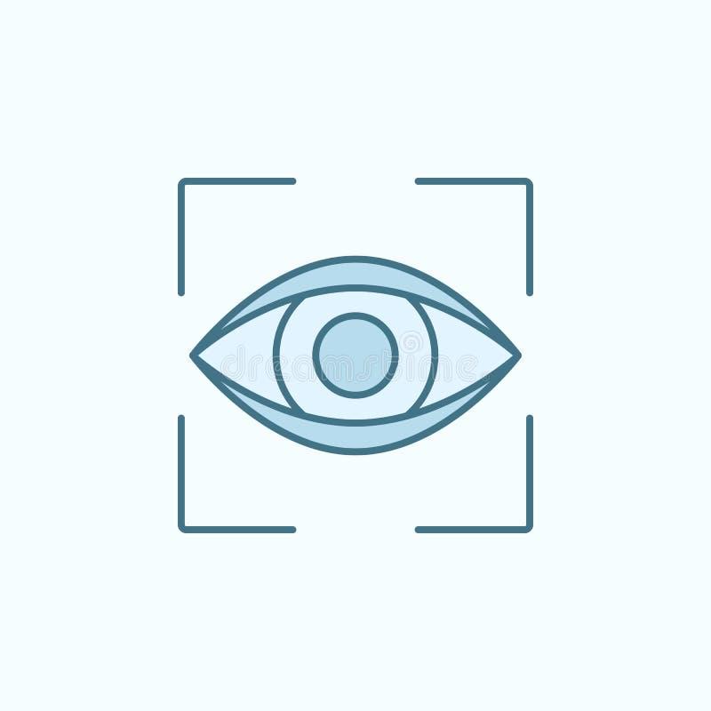 zoek door het overzichtspictogram van het ogengebied Element van misdaadpictogram vector illustratie