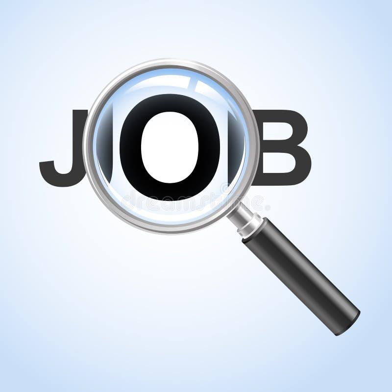 Zoek een baan stock illustratie