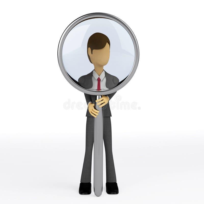 Zoek en onderzoekt vector illustratie