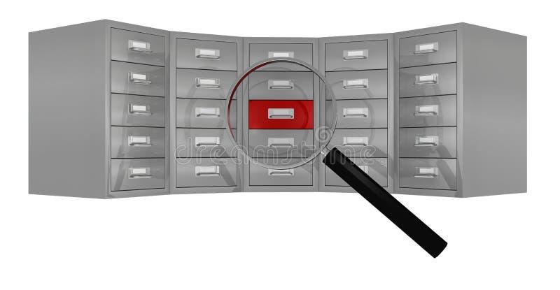 Zoek en vind gegevens vector illustratie