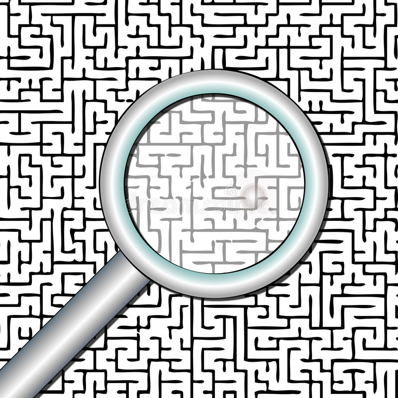 Zoek en vindt vector illustratie