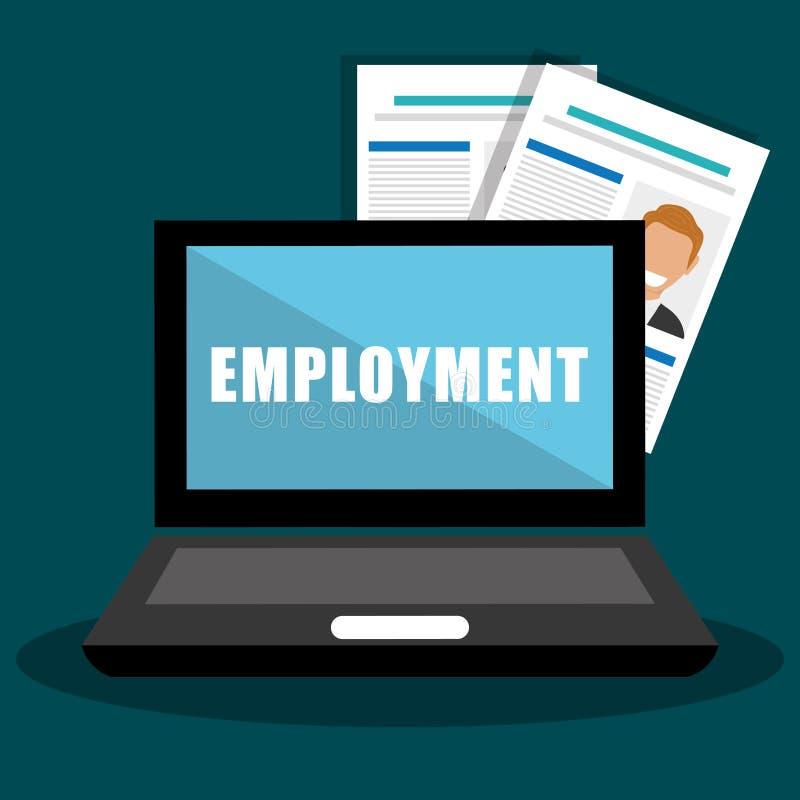 Zoek en vindt werkgelegenheid royalty-vrije illustratie