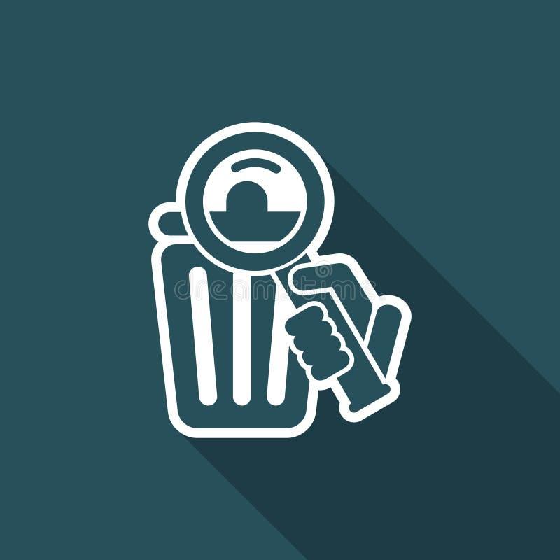 Zoek in het afval vector illustratie